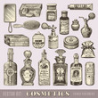 beauty and cosmetics - set of vintage design elements - 66950070