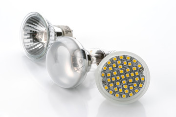 LED lamps with electric lights old