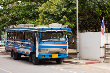 Local bus in Phuket, Thailand
