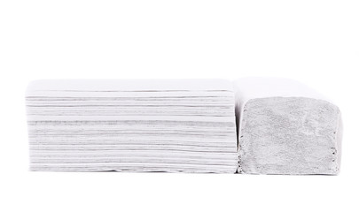 Folded disposable papers.