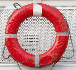 Life Buoy attached to the ship's rail