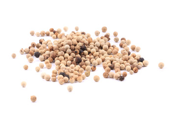 Close up of white pepper.