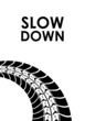 slow down tire track background