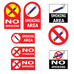 Set of Smoking an No Smoking Cigarette Sign