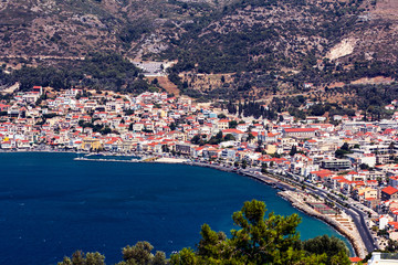 The port of Vathy in Samos island Greece