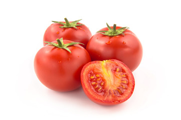 Four Sliced Tomatoes