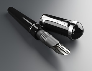 Black fountain pen