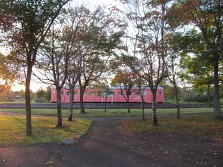 夕方の別海町鉄道記念公園