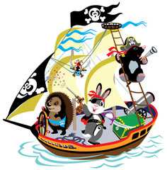 cartoon pirate ship © insima