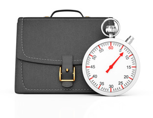Briefcase and stopwatch