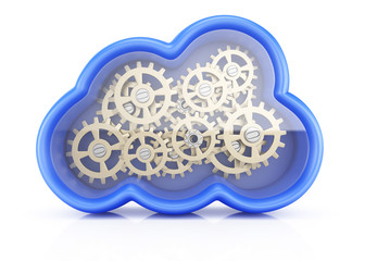 Cloud with cogwheels