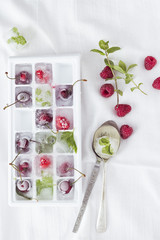 Frozen fruit and spices