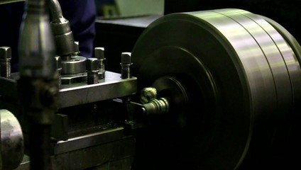 lathe on the white background