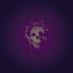 skull paint