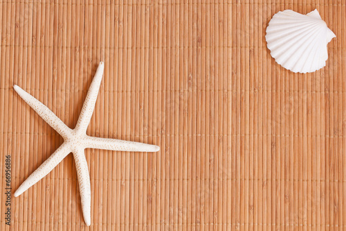 Background of a straw mat