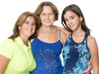 Three generations in a family of hispanic women