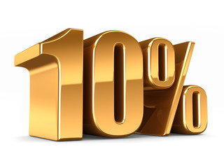 3d render of a Gold 10 percent