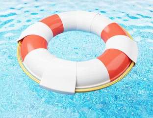 Lifebuoy on water