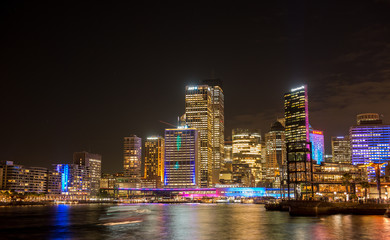 Sydney city nightscape.