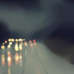 Abstract bokeh rain road illustration