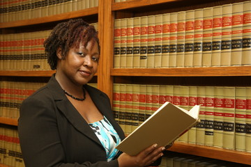 Law Library, Female Attorney