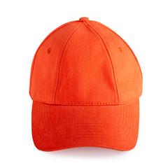 Orange baseball cap