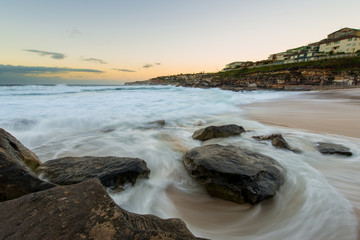 Sunrise at Sydney beach,