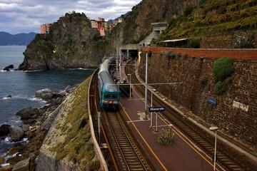 railway in manarola