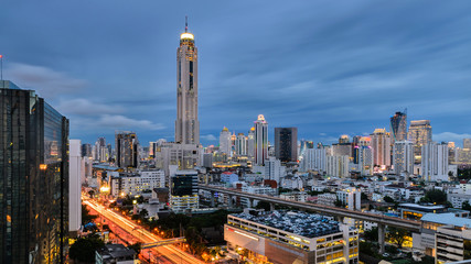 Baiyok tower in Bangkok at night