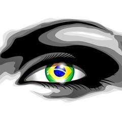 Brazil Beautiful Girl Eye