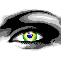 Brazil Beautiful Girl Eye