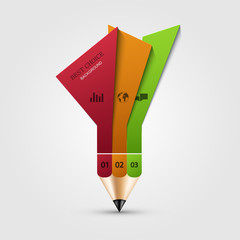 vector modern pencil infographics.