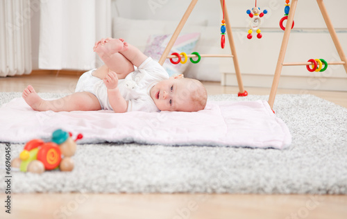 canvas print picture Vater mit Baby