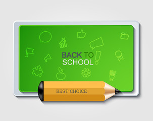 Vector modern back to school background.