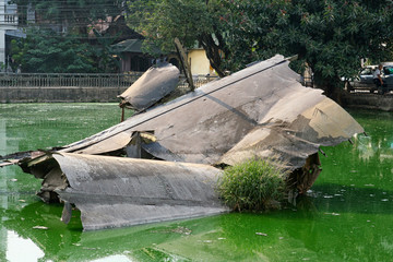 B-52 crash site in Hanoi, Vietnam