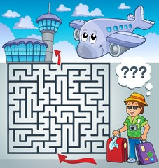 Maze 3 with travel thematics