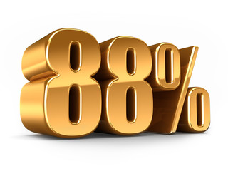 3d render of a Gold 88 percent