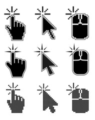 Click here mouse cursors set.