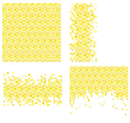 Set of 4 pixel templates for your design
