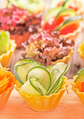 vegetarian canapes - fresh  salad