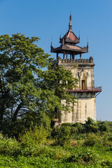 Ava Palace site watchtower, inwa in Myanmar (Burmar)