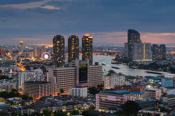 Bangkok cityscape at twilight time