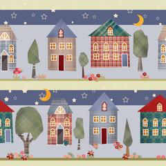 Kids patchwork seamless pattern