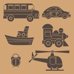 vector icons transport