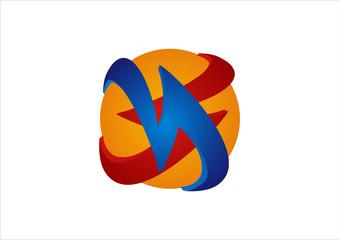 pick up 3d globe logo