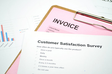 Business Document Invoice and Customer service surve