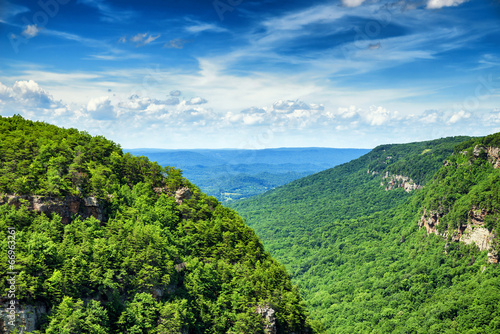 High view of Cloudland Canyon State Park in north Georgia