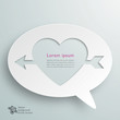 Infographics Background Speech Balloon, Cupid's Arrow