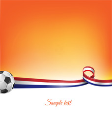 netherlands background with soccer ball