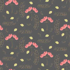 Vintage watercolor flower pattern